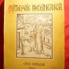 MITOLOGIE ROMANEASCA -1944 de M.Olinescu-GRAVURI si desene ale autorului -1944 - Carte mitologie