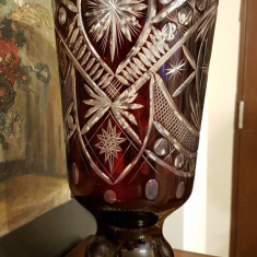Vaza din cristal rosu de rubin - dimensiuni mari - Vaza sticla