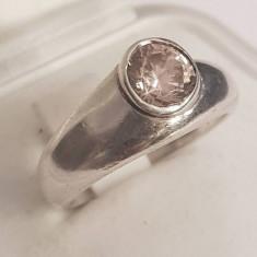 Inel din argint cu ametist. Masura - 13 - Inel argint