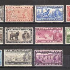 Colonii engleze, Canada - Newfoundland, 1937, George VI, fauna, vederi, MNH, Nestampilat