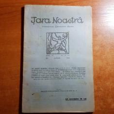 revista tara noastra 25 aprilie 1926-octavian goga si poezii de zaharia stancu