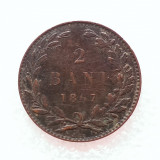2 BANI 1867-CUPRU-CAROL I DOMN-MONETARIA WATT&CO