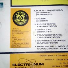 LOT SCHEME / PROSPECTE ELECTRONICA DIODE / TIRISTOR ...IPRS BANEASA