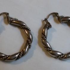 CERCEI argint TRIBALI grosi ROTUNZI executati manual prin RASUCIRE de efect RARI