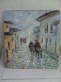 Calareti in noapte-pictura ulei pe placaj;MacedonLuiza, Peisaje, Altul