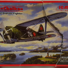 Macheta avion Polikarpov I-153 Chaika - ICM 72074, scara 1:72