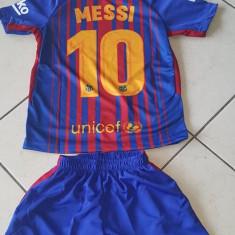 COMPLEU COPII 4-6 ANI, BARCELONA 2017-2018 SUPER PRET - Echipament fotbal, Marime: Masura unica, Set echipament fotbal