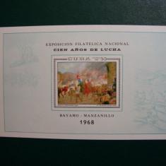 CUBA 1968 COLITA EXPOZITIA FILATELICA MNH - Timbre straine, Nestampilat