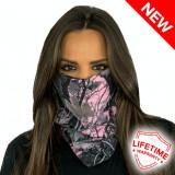 Bandana/Face Shield/Cagula/Esarfa - Pink Forest Camo, made in USA, Din imagine