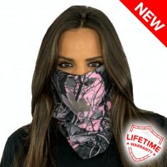 Bandana/Face Shield/Cagula/Esarfa - Pink Camo Camo, made in USA, Marime: Masura unica, Culoare: Din imagine