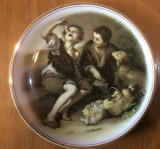 THE BEGGAR BOYS - BARTOLOME ESTEBAN MURILLO  - Fenton China Co . - Farfurie Deco