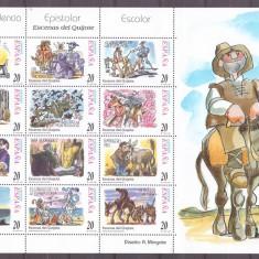 Spania 1998 - Don Quijote, coala neuzata