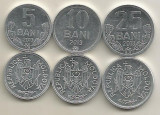 MOLDOVA  SET /  LOT 3 buc :  5 BANI + 10 BANI + 25 BANI 2013 ,  a UNC, Europa, Aluminiu