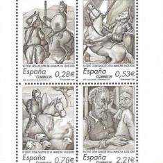 Spania 2005 - Don Quijote, bloc neuzat
