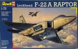 Macheta avion Lockheed F-22A Raptor - Revell 04386, scara 1:72