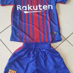 Compleu copii BARCELONA, 10 MESSI - Echipament fotbal, Marime: YXXL, YXL, YL, YM, YS, YXS, Set echipament fotbal