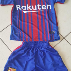 Compleu copii BARCELONA, 10 MESSI - Echipament fotbal, Marime: YXXL, YL, YM, YXS, Set echipament fotbal