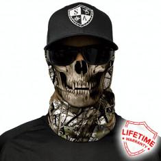 Bandana/Face Shield/Cagula/Esarfa - Snow Camo Skull, made in USA, Marime: Masura unica, Culoare: Din imagine