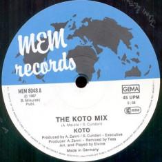 Koto - The Koto Mix / Jabdah (Megamix 1987) disc vinil Maxi Single italo-disco - Muzica Dance