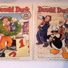 Lot 2 reviste benzi desenate Walt-Disney Donald Duck Nr. 8 si 29, 2014, Olandeza