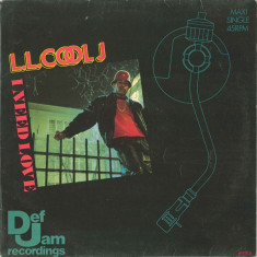 L.L. Cool J - I Need Love 1987, Def Jam disc vinil Maxi Single Hip Hop / rap