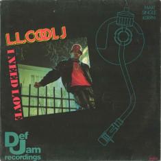 L.L. Cool J - I Need Love 1987, Def Jam disc vinil Maxi Single Hip Hop / rap - Muzica Hip Hop