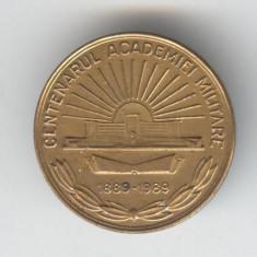 Insigna Militara - Centenarul Academiei Militare 1889-1989