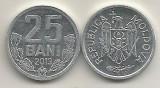 MOLDOVA 25 BANI 2013 [1] UNC , livrare in cartonas, Europa, Aluminiu