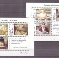 Spania 2004 - Femeia si lectura, serie blocuri neuzate