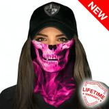 Bandana/Face Shield/Cagula/Esarfa - Skull Tech | Pink Crow, made in USA
