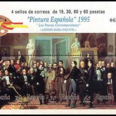 Spania 1995 - Pictura, bloc neuzat
