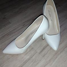 Pantofi de mireasa - Pantof dama, Culoare: Alb, Marime: 36, Cu toc