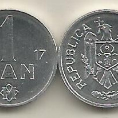 MOLDOVA  1  BAN  2017   a  UNC  UNC  [1]   livrare in cartonas, Europa, Aluminiu