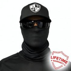 Bandana/Face Shield/Cagula/Esarfa - Tactical Black, made in USA, Marime: Masura unica, Culoare: Din imagine