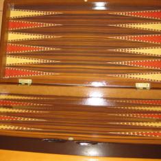 Joc table zar zaruri pul puluri joc table lux cutie lemn lacuit - Set table