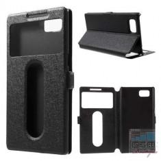 Husa Flip Cu Stand Lenovo Vibe Z2 Pro Cu Fereastra Neagra - Husa Telefon
