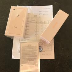 IPhone 8 64GB Gold SIGILATE, neverlocked, Garantie+Factura 24luni - 2899 RON ! - Telefon iPhone Apple, Auriu, Neblocat