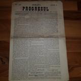 Ziarul progresul din 7 noiembrie 1863- articol despre nicolae balcescu
