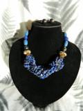 Set colier si cercei torsada lapis lazuli (11)