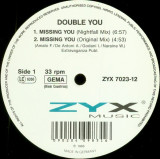 Double You - Missing you (Remix 1993, ZYX) disc vinil Maxi Single Euro-House