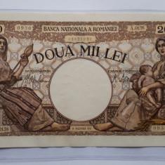 2000 lei 1941 xf + _ aunc - Bancnota romaneasca