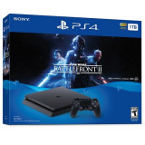 Consola SONY PlayStation 4 Slim (PS4 Slim) 1 TB, negru + Star Wars Battlefront II