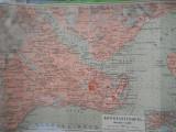 HOPCT HARTA VECHE TURCIA CONSTANTINOPOL-INS. LEIPZIG GERMANIA REICH D=360/230 MM, Circulata, Printata