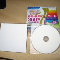 Blank BD-RE DL reinscriptibil 50 GB Verbatim made in Japan - Blu-Ray Blank