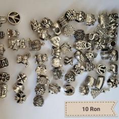 Charmuri suflate cu argint pentru bratara  Pandora