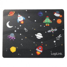 Mousepad Logilink ID0148 Glimmer Little Planet Black