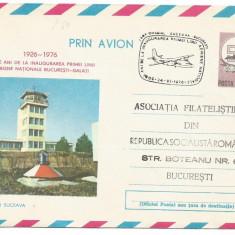 (No2) plic aerofilie zbor omagial -SUCEAVA BUCURESTI 1976