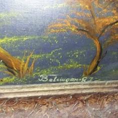Tablou vechi pictat pe panza,pictura veche MARE 98cm/1,38,TABLOU de COLECTIE