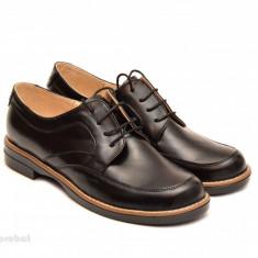 Pantofi dama casual din piele naturala negri - Pantof dama, Culoare: Maro, Negru, Marime: 35, 36, 37, 38, 39, 40, Cu talpa joasa
