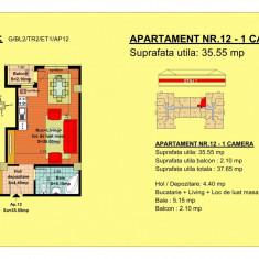 Garsoniera 35.55 mp - Garsoniera de vanzare, 36 mp, An constructie: 2018, Etajul 2